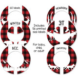 Lumberjack woodland closet dividers for a baby shower gift or organizing child's closet