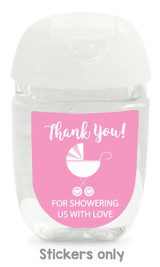 Hand sanitizer labels for girls baby shower fit bath and body works pocketbac.