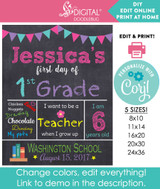 DIY editable back to school sign