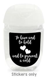 Hand sanitizer labels for wedding favors fit bath and body works pocketbac. Color: black