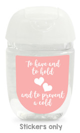 Hand sanitizer labels for wedding favors fit bath and body works pocketbac. Color: blush