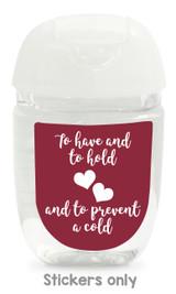 Hand sanitizer labels for wedding favors fit bath and body works pocketbac. Color: burgundy