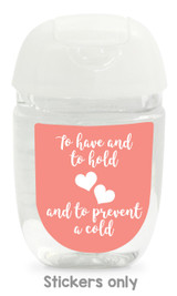 Hand sanitizer labels for wedding favors fit bath and body works pocketbac. Color: coral