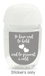 Hand sanitizer labels for wedding favors fit bath and body works pocketbac. Color: gray
