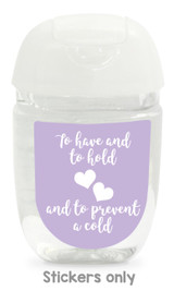 Hand sanitizer labels for wedding favors fit bath and body works pocketbac. Color: lavender