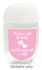 Hand sanitizer labels for wedding favors fit bath and body works pocketbac. Color: light pink