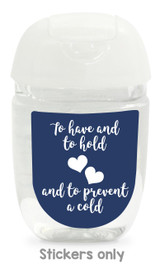 Hand sanitizer labels for wedding favors fit bath and body works pocketbac. Color: navy