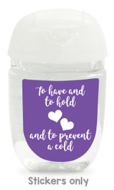 Hand sanitizer labels for wedding favors fit bath and body works pocketbac. Color: purple
