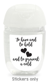 Hand sanitizer labels for wedding favors fit bath and body works pocketbac. Color: white