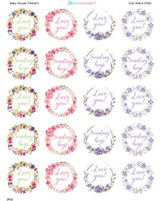 2 Inch Love You labels 20 stickers