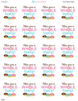 2 Inch Miss You donut labels 20 stickers