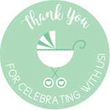 Thank you for celebrating with us DIY baby shower favors