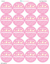 2 inch stickers precut on the sheet in light pink