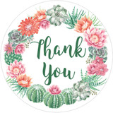 Thank you cactus stickers DIY baby shower or wedding favors