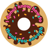 Thank you donut stickers DIY baby shower or wedding favor labels