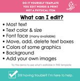 CORJL Editable Girls Back to School Sign White Printable Poster + PDF