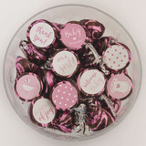 Pink Baby shower favor stickers for a girl
