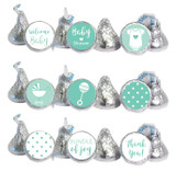 Mint Mini Candy Stickers 108 Labels