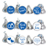Stickers that fit Hershey Kisses, Rolos, and water bottle lids
