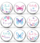 Baby shower stickers that fit Hershey Kisses, Rolos, and water bottle lids