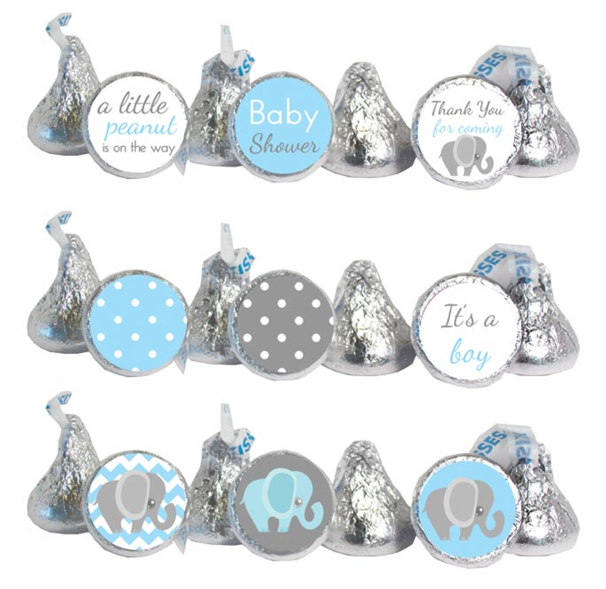 108 It/'s a Boy Owl Stickers Labels Baby Shower Party Favors Kisses Man Its