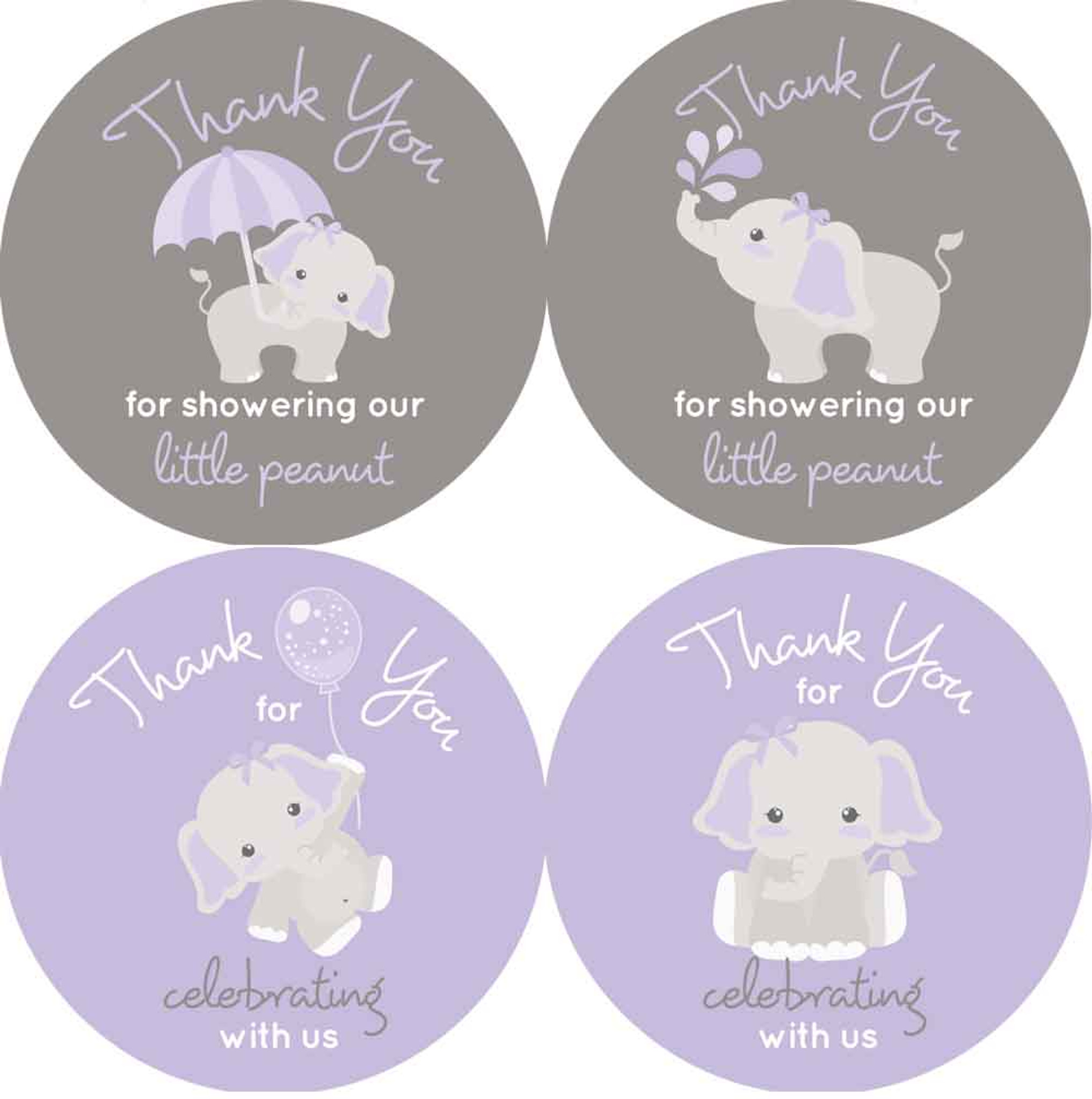 Elephant Baby Shower Favors Thank You Stickers Purple And Gray Labels,Christina Anstead Tarek El Moussa