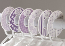 Purple baby closet dividers