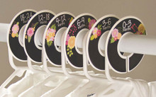 Chalkboard flowers baby closet dividers