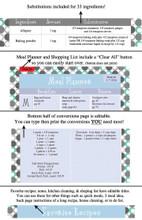 Retro Turquoise Printable Recipe Book Template Editable PDF