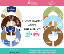Sports Printable Closet Dividers