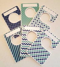 Navy & Green Large Closet Dividers