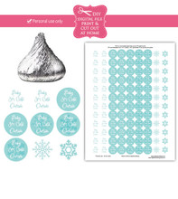 Baby it's cold outside Printable shower stickers