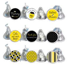 Bee Mini Candy Stickers Baby Shower Favors 108 Labels