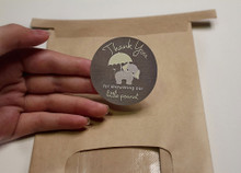 Use on gift bags, thank you cards, party favors, favor boxes, cups, mugs, and more!