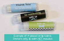 Lip Balm labels little man 15 stickers