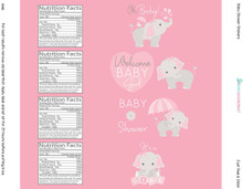 8.5x2 inch pink elephant baby shower girl favors