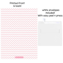 25 Fill in Blank Baby Shower Invitations w/ Envelopes Pink Elephant