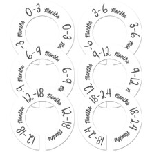 White gender neutral closet size dividers make a great baby shower gift