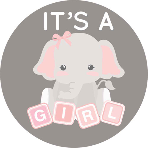 Gianna S Pink And Gray Elephant Nursery Reveal: It's A Girl Baby Shower Stickers Pink And Gray Elephant