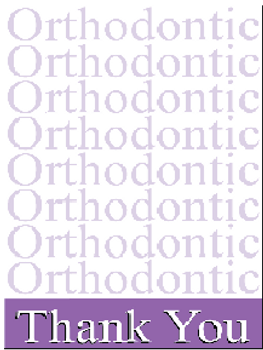 Purple Ortho Ortho Thank you