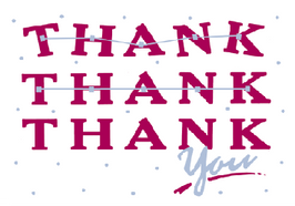 Thank Thank Thank you Card