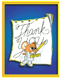 Thank you Card with Mouse