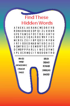 Tooth Word Search