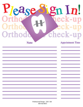 Please Sign In Orthodontic Check-Up