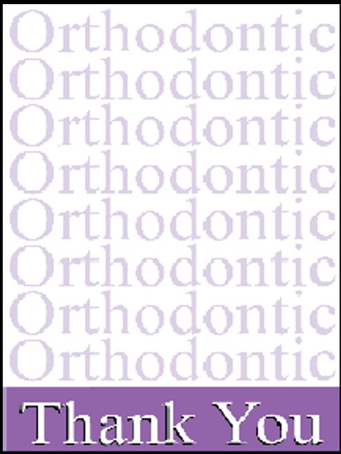 Purple Ortho Ortho Thank you