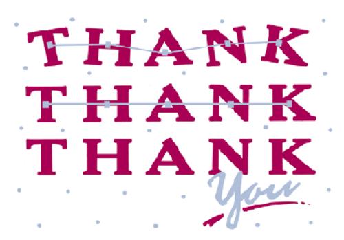 Thank Thank Thank you Card