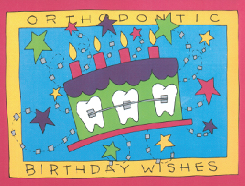 Orthodontic Birthday Wishes Cake