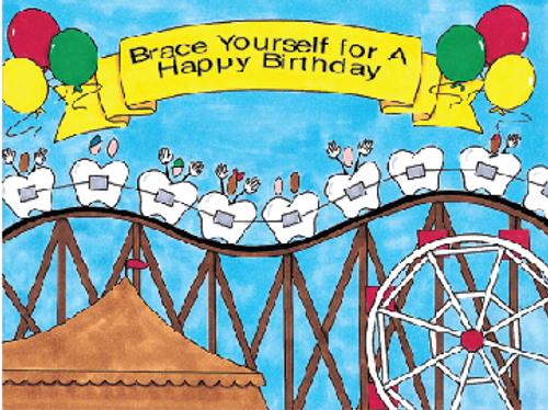 Happy Birthday Roller Coaster Teeth