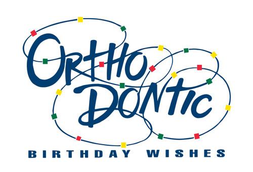 Orthodontic Birthday Wishes w/Swirling Braces
