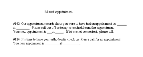Tusk Tusk Missed Appointment